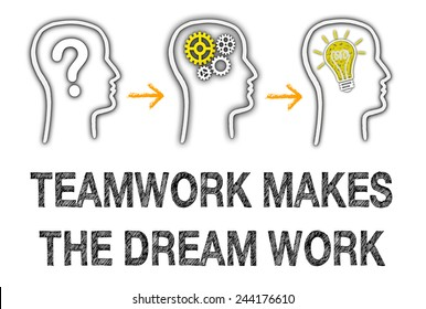 Teamwork makes the dream work - Business and creativity concept