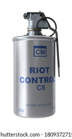 Tear Gas Canister 3D illustration on white background
