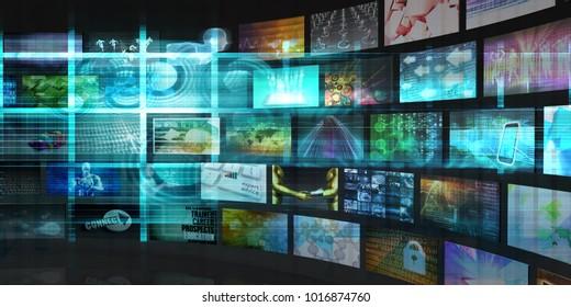 Tech Digital Data Transfer Network as Abstract