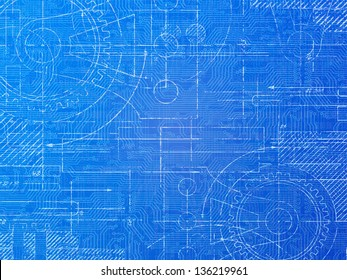 Technical drawing images stock photos vectors shutterstock technical blueprint electronics and mechanical background illustration malvernweather Gallery