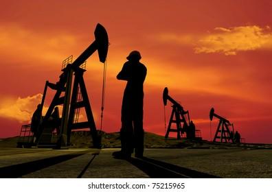 Technique for oil in a landscape.