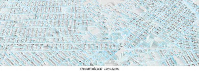 Techno mega city; urban and futuristic technology concepts, original 3d rendering illustration
