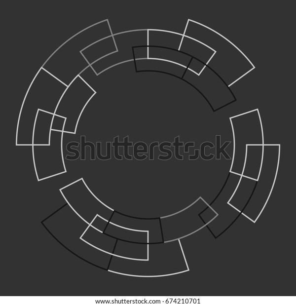 Technology background. Abstract digital illustration. Connection concept. Electronic round design. Modern abstraction lines and points.