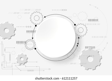 vector abstract futuristic 3 d white paper stock vector royalty