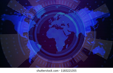 Technology concept to portray the modern world we live in. covering technology, cyberspace, internet, network, communication and globalisation.