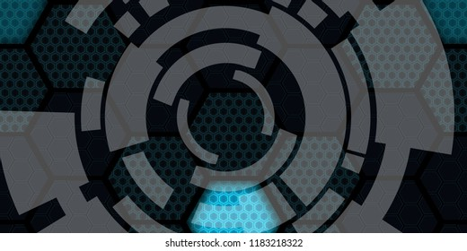 Technology cyber concept to portray modern technology, communication, connected, the internet, globalisation and all things cyber.