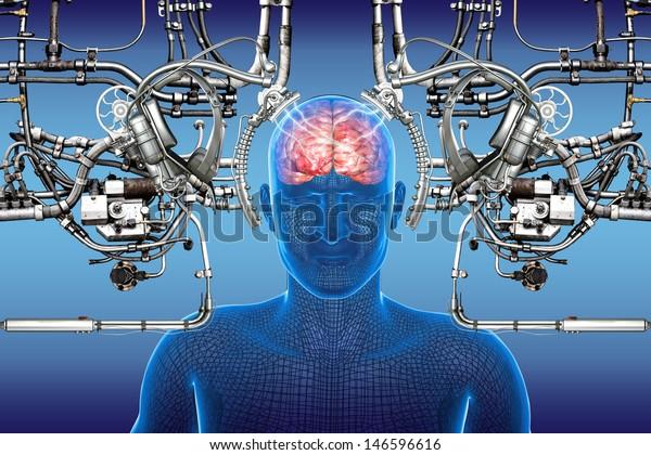 Technology Cybernetics Stock Illustration 146596616