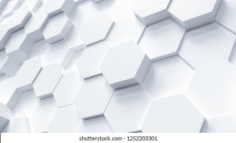 technology hexagon pattern background - 3D rendering