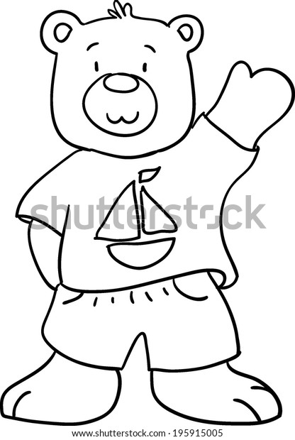 - Teddy Bear Coloring Book Children Stock Illustration 195915005