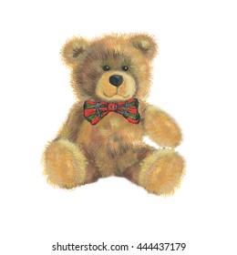 a teddy bear on a white background