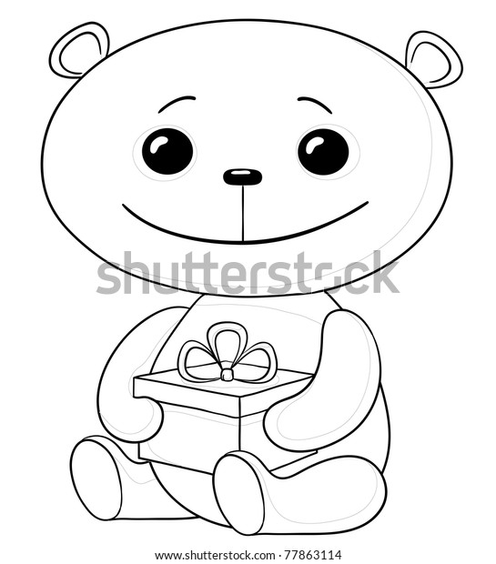 A toy in a gift box. e-commerce single icon in outline style vector symbol  stock illustration web. A toy in a gift box. e-