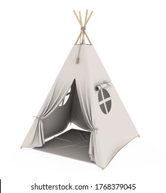 Teepee Tent Isolated. 3D rendering