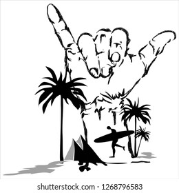 beach palm trees water images stock photos vectors shutterstock Nusa Penida Diving Bali tees abstract beach print