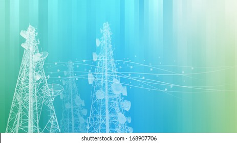 Telecommunications tower, TV, radio or mobile phone base station