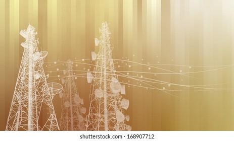 Telecommunications tower, TV, radio or mobile phone base station