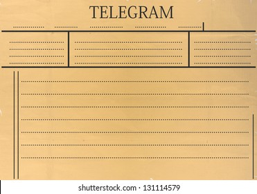 Telegram blank with space for any text.