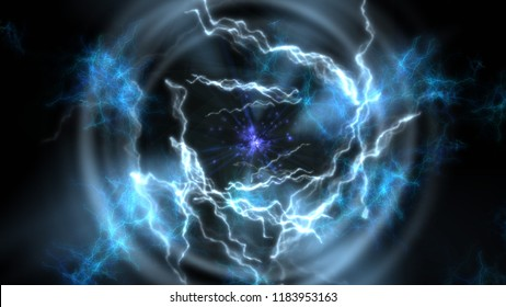 Teleportation. Portal of space-time. 2.  Science fiction. 3D illustration