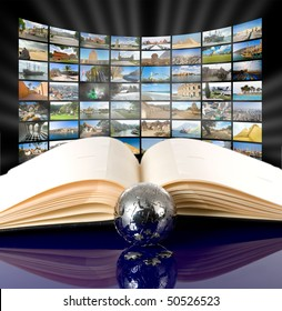 Television and internet production technology concept. All images my