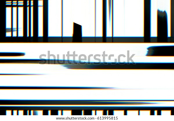 Television Screen Static Noise Disturb Glitch Stock Illustration