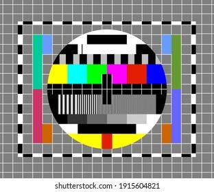 television setup tester image retro no signal screen