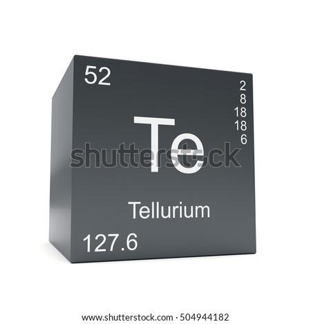 Tellurium Chemical Element Symbol Periodic Table Stock Illustration