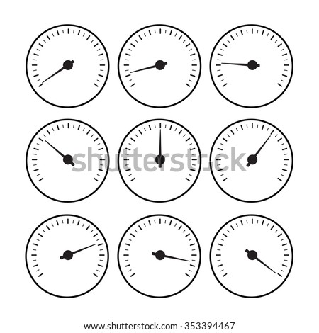 Royalty Free Stock Illustration Of Temperature Gauge Line Set Used