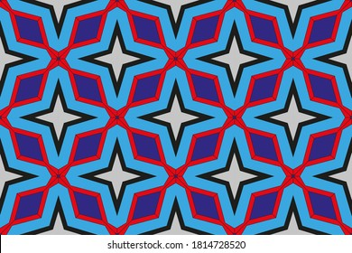 Template with abstract geometric pattern. For modern interior design, fashionable print. Creative gradient color. Illustration made with texture.