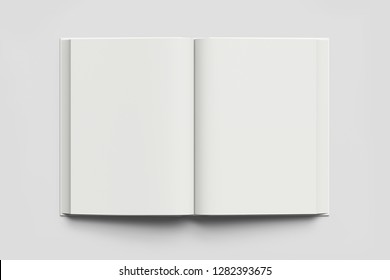 Template Book Mock up isolated on soft gray background,Real photo, blank book, brochure, booklet, hard cover and soft cover.3D rendering.