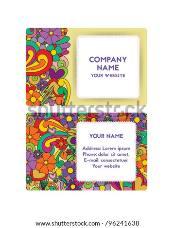Template Business Card Organization Festivals Company Stock