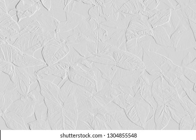 Template of embossed leaves and flower can be use as wallpaper ,screen and useful background
