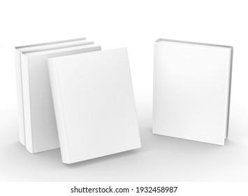 template empty hardcover book mockup set , 3d rendering