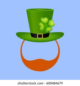 Royalty Free Stock Illustration Of Template Face Leprechaun On St