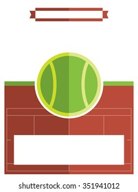 A template flyer background for a tennis match.