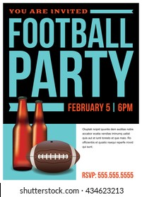 A template illustration for an American football party.