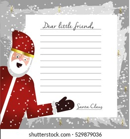 Elegant blank letter to templates template free with from santa uk template letter from santa claus blank for your text beautiful card with flat character santa spiritdancerdesigns Choice Image