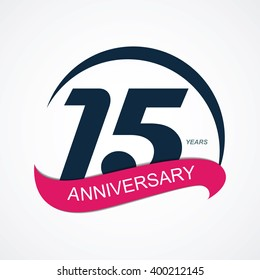 Template Logo 15 Anniversary Illustration