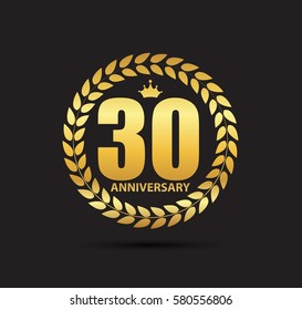 Template Logo 30 Years Anniversary  Illustration