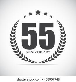 Template Logo 55 Years Anniversary  Illustration