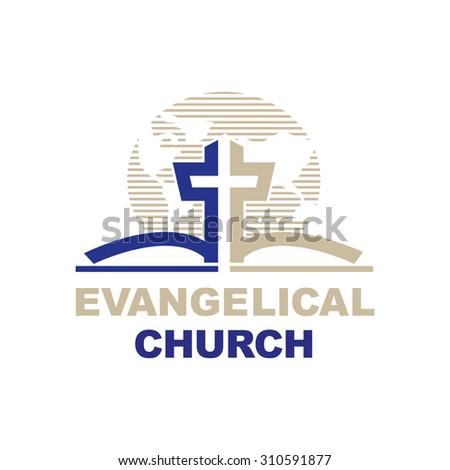 Template Logo Churches Christian Organizations Cross Stock