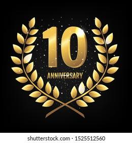Template Logo Ten Years Anniversary