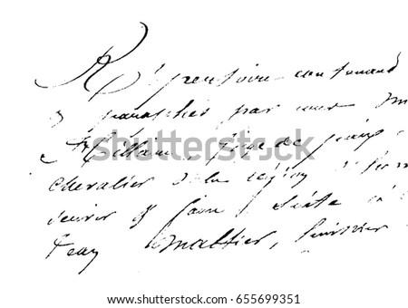template old vintage text illegible handwriting stock illustration