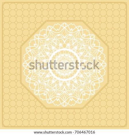 template print fabric pattern mandala border stock illustration