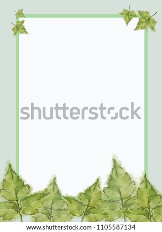 Template For Summer Advertisement Announcement And Various Promotional Material Green Poison Ivy Leaves