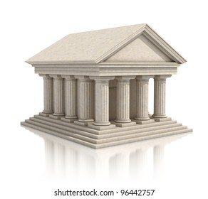 temple 3d illustration