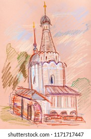 """temple in """"Pereyaslavl-zalessky"""", ancient Russian town"""