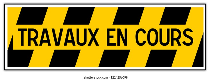 temporary construction sign: warning workers