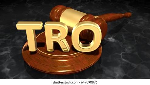 Temporary Restraining Order  Law Concept 3D Illustration