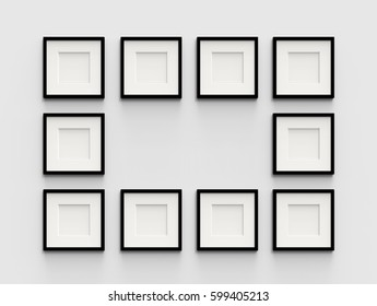 Ten frame images stock photos vectors shutterstock ten blank picture frame template set isolated on wall 3d rendering maxwellsz