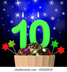 Ten Candle On Cupcake Meaning Sweet Desserts And Cakes