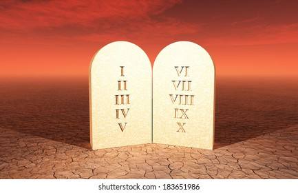 ten commandments in the desert